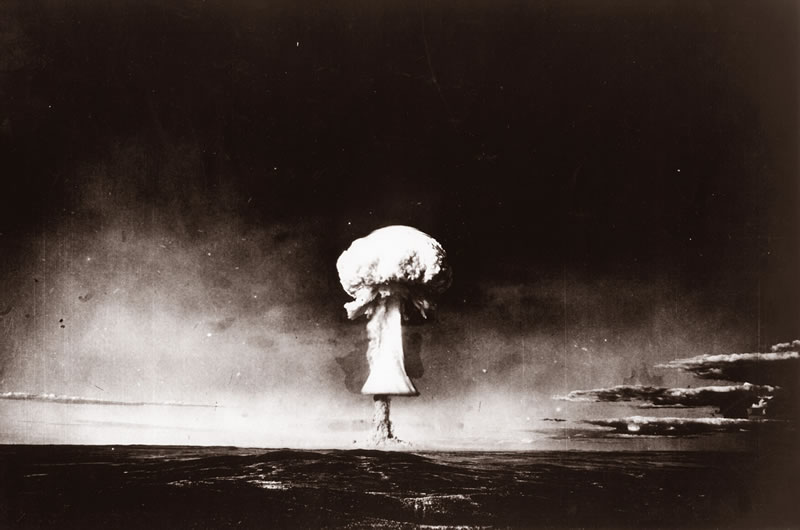 One of 456 nuclear tests conducted at the Semipalatinsk test site
